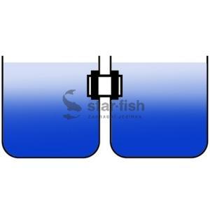 Šroubovací prostup dvojitý 110mm - k propojení nádrží