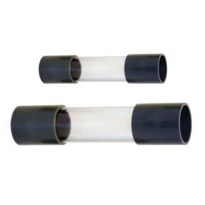 Průhledná kontrolní trubka 50mm s oboustrannou přírubou