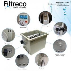 Filtreco Drum Filter 55 - gravitační zapojení