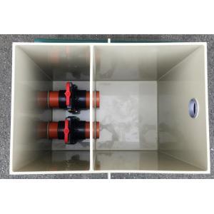 Čerpadlová šachta 50 x 75 x 75 cm, 2 vstupy 110 mm, výstup 63 mm, včetně šoupat Praher