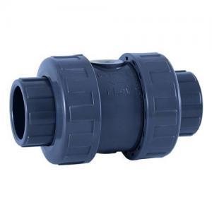 PVC zpětný ventil ø 32 mm, připojení lepení x lepení