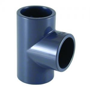 PVC T - kus 90°, ø 75 mm, připojení lepení x lepení