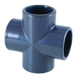 PVC kříž, ø 75 mm, připojení lepení x lepení