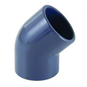 PVC koleno 45°, ø 75 mm, připojení lepení x lepení