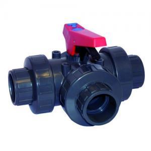 PVC kulový ventil trojcestný, ø 50 mm, připojení lepení x lepení x lepení