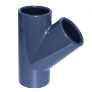 PVC T - kus 45°, ø 110 mm, připojení lepení x lepení