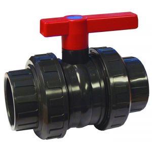 PVC kulový ventil AquaLink ø 75 mm, připojení lepení x lepení