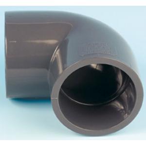 PVC koleno 90°, ø 50 mm, připojení lepení x lepení