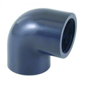 PVC koleno 90°, ø 63 mm, připojení lepení x 2 vnitřní závit