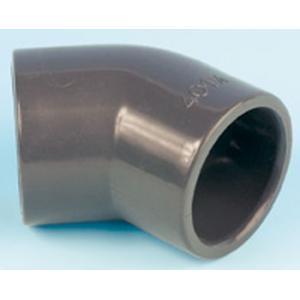 PVC koleno 45°, ø 50 mm, připojení lepení x lepení