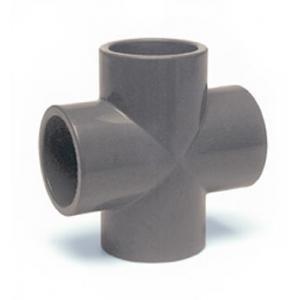 PVC kříž, ø 50 mm, připojení lepení x lepení