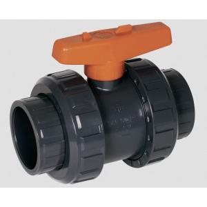 PVC kulový ventil, ø 50 mm, typ S6, připojení lepení x lepení